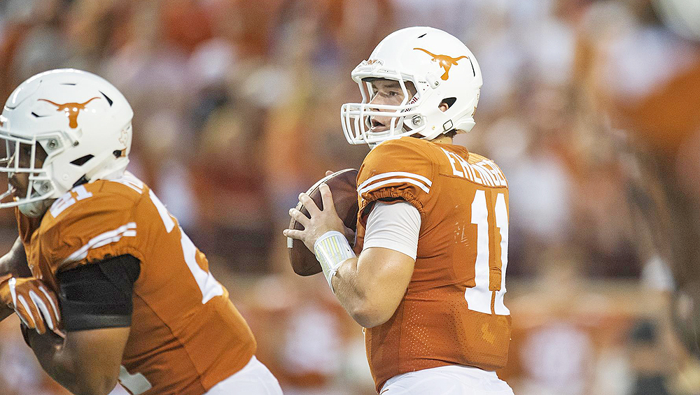 Aerial attack lifts No. 14 Longhorns past hapless UTEP, 59-3