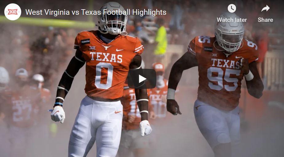 Texas Longhorns Football Highlights from Big 12