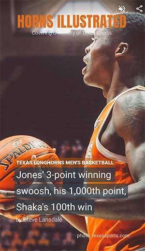 Andrew Jones winning 3pt shot with 1.08 sec left