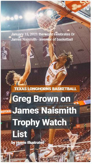 Greg Brown Naismith Story Cover