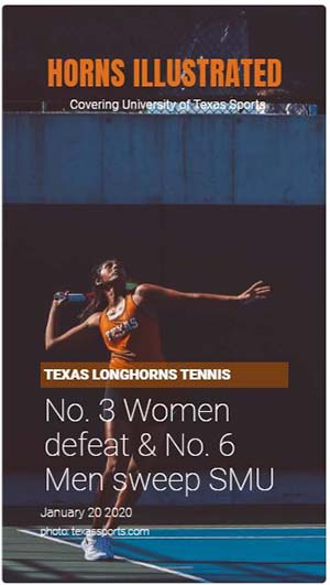 Texas Longhorns Tennis Sweeps SMU