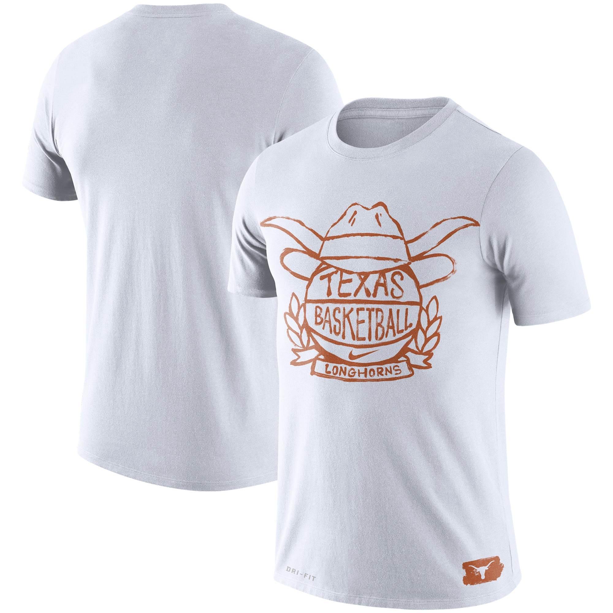 Texas Longhorns Nike Basketball Crest Performance T-Shirt - White