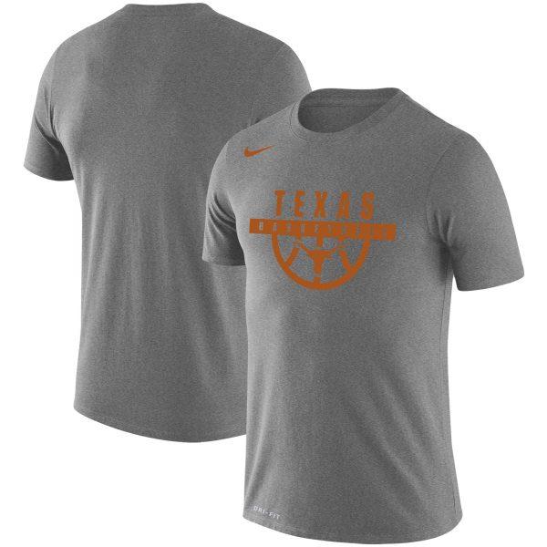 Texas Longhorns Nike Basketball Drop Legend Performance T-Shirt - Gray