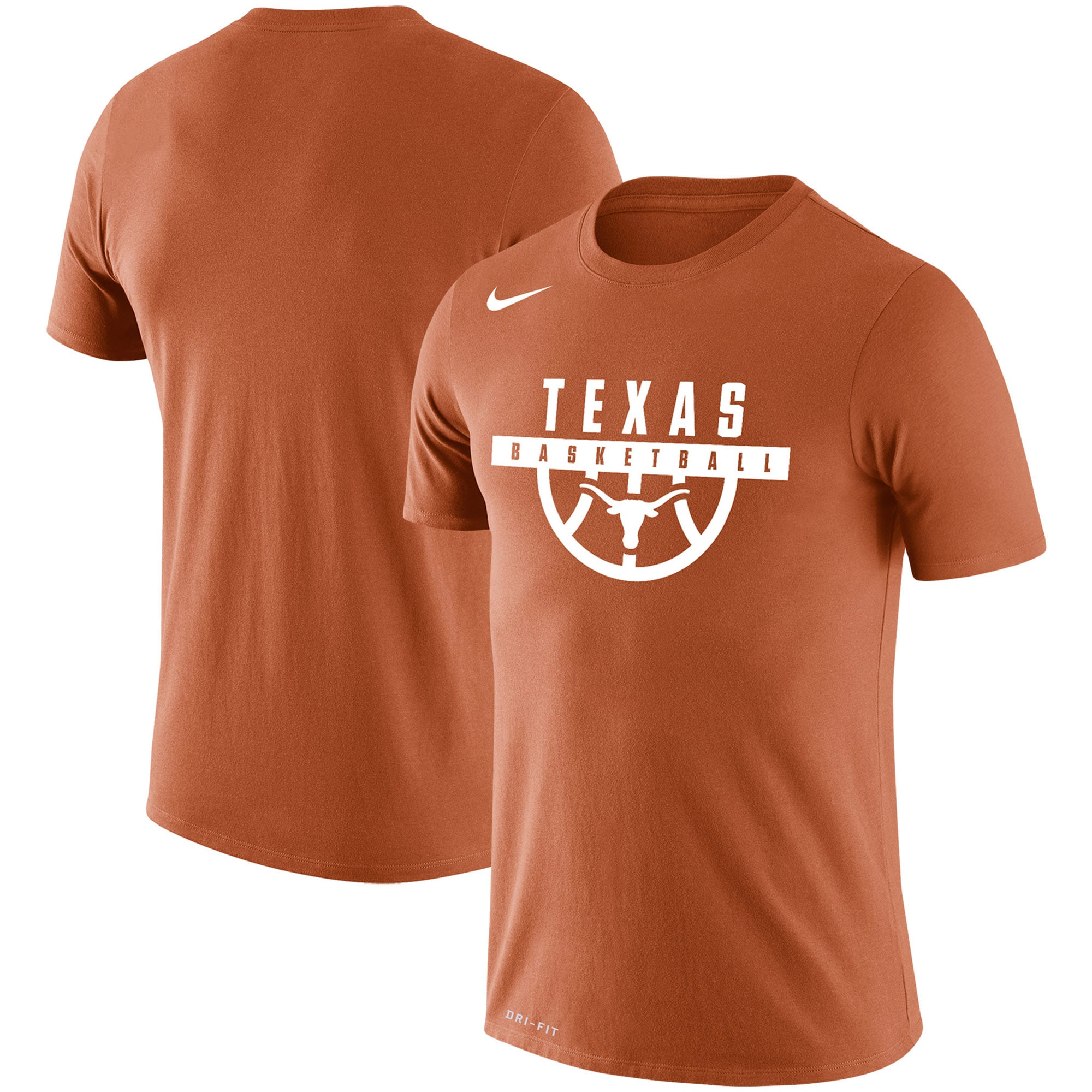 Texas Longhorns Nike Basketball Drop Legend Performance T-Shirt - Texas Orange