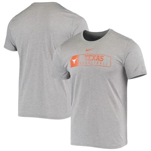 Texas Longhorns Nike Basketball Performance T-Shirt - Heathered Gray