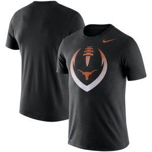 Texas Longhorns Nike Football Icon Performance T-Shirt - Black