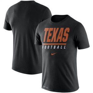 Texas Longhorns Nike Icon Wordmark Performance T-Shirt - Black