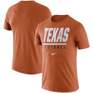 Texas Longhorns Nike Icon Wordmark Performance T-Shirt - Texas Orange