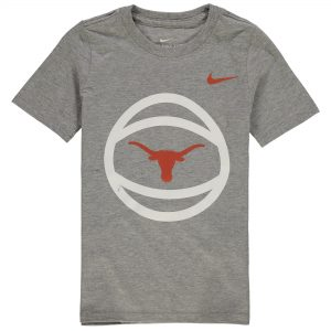 Texas Longhorns Nike Preschool Basketball and Logo T-Shirt - Heathered Gray