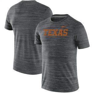Texas Longhorns Nike Wordmark Logo Velocity Legend Performance T-Shirt - Black