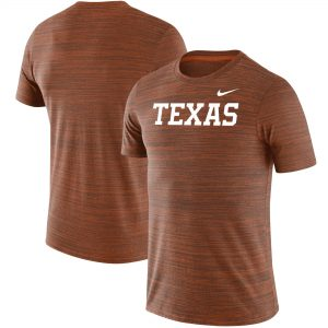 Texas Longhorns Nike Wordmark Logo Velocity Legend Performance T-Shirt - Texas Orange
