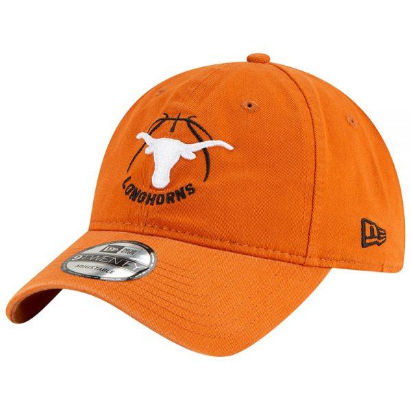 Texas Longhorns New Era Basketball Athlete 9TWENTY Adjustable Hat - Texas Orange