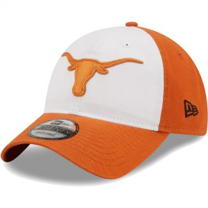 Texas Longhorns New Era Two-Tone Core Classic 9TWENTY Adjustable Hat - White/Texas Orange