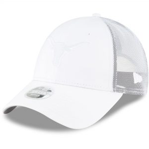 Texas Longhorns New Era Women's Trucker 9FORTY Snapback Hat - White