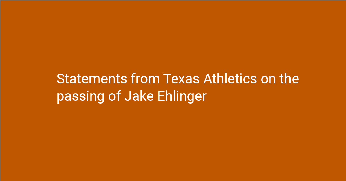 Statement from Texas Athletics