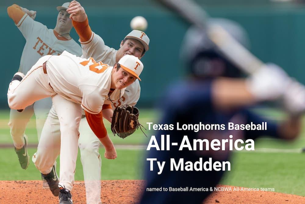 Texas Baseball Ty Madden All-America